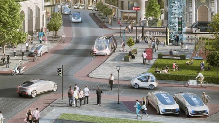 Blick in die Zukunft: Um das automatisierte und später autonome Fahren umsetzen zu können, setzen Daimler und Bosch auf die KI-Plattform von Nvidia.