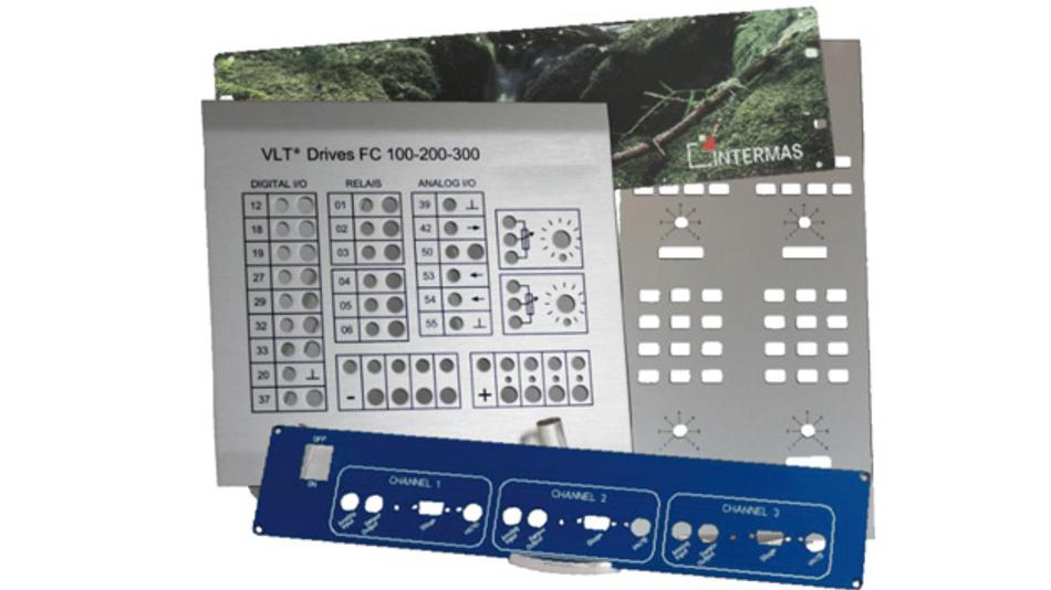 Der Frontplatten-Service von Intermas-Elcom umfasst die mechanische Bearbeitung, die Oberflächenbehandlung, das Bedrucken und die Montage.