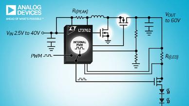 LED-Treibercontroller LT3762 mit 60 V Ausgangsspannung