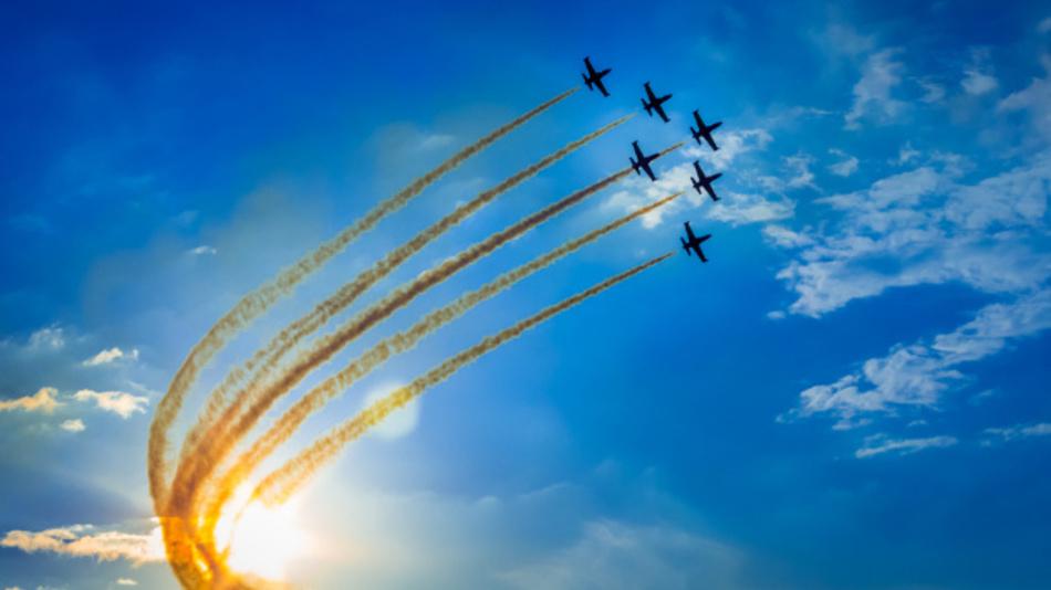 Die Farnborough International Airshow wechselt sich mit der Pariser Luftfahrtschau ab.