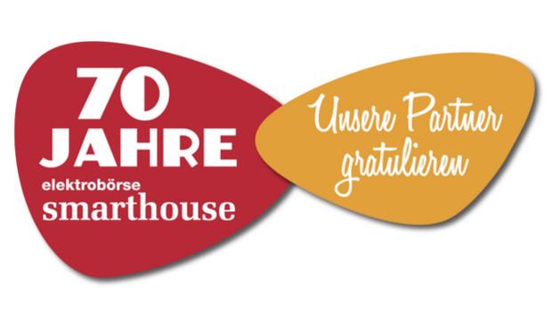Logo: 70 Jahre elektrobörse smarthouse Gratulanten