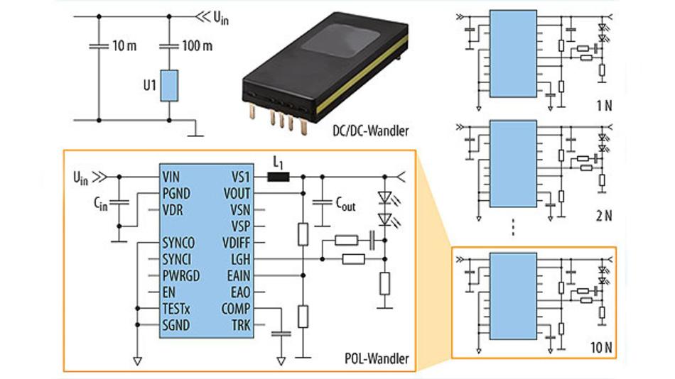 Bild 1. Konfiguration einer Stromversorgung, die auf die mittlere benötigte Leistung optimiert ist.