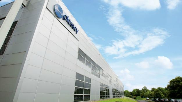 Hauptsitz des britischen Technologie-Unternehmens Plessey in Plymouth. Die Schwerpunkte liegen auf Halbleiter-Produktionstechnik und Optoelektronik.
