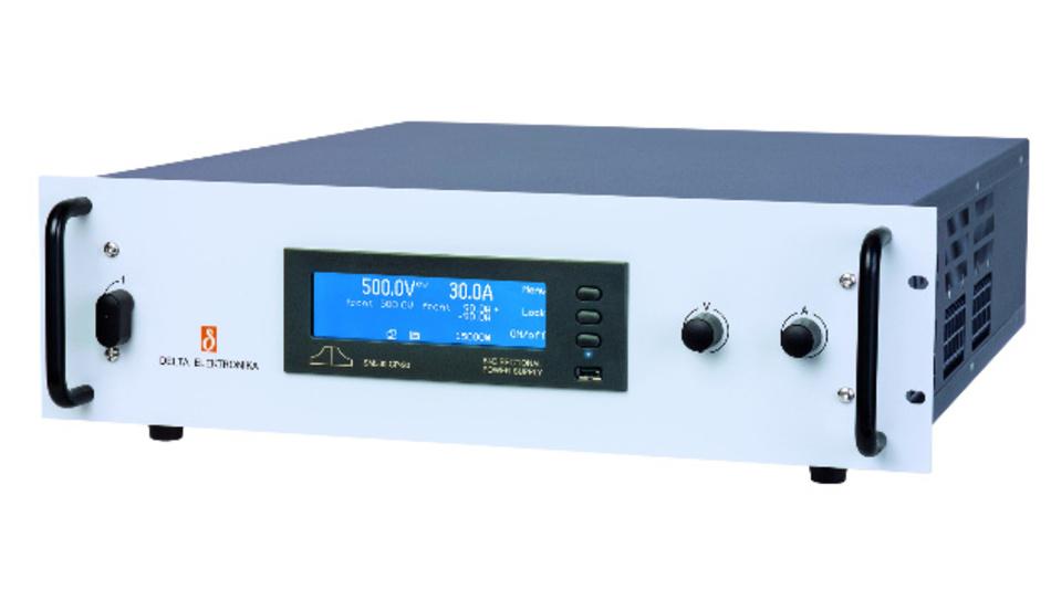 Die 15-kW-DC Netzteile von Delta Elektronika arbeiten als Quelle mit geregelter Ausgangsleistung und als Senke mit Netzrückspeisung.