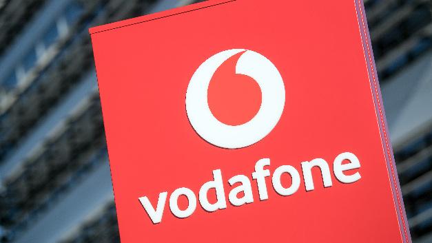 Das Logo der Vodafone-Deutschland-Zentrale.