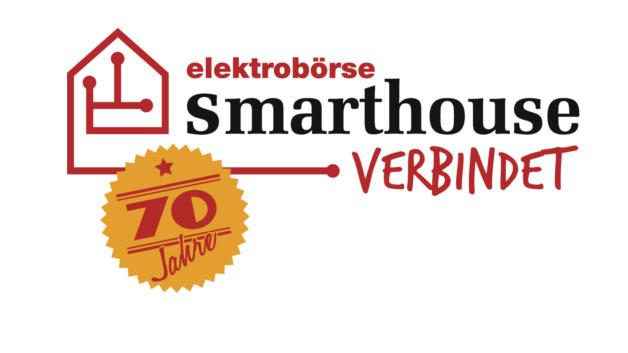 Logo: 70 Jahre elektrobörse smarthouse