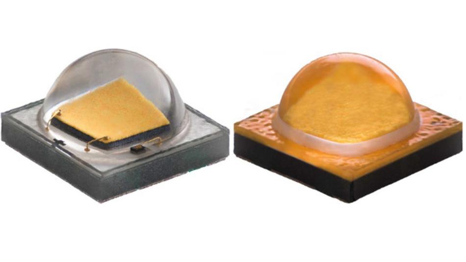 Die Basis-Variante (links) der XP-G2 von Cree liefert 586 Lumen bei 5W, die HE-Version liegt bei 735 Lumen und nimmt 6W Leistung auf.