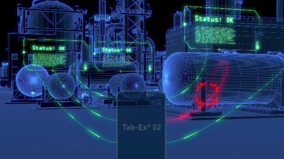 Augmented Reality für den explosionsgeschützten Bereich: Das Tab-Ex 02 der Pepperl+Fuchs-Tochter ecom unterstützt Funktionen für AR-Anwedungen.