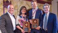 Die Preisträger und Preisüberbringer des  Engelberger Robotics Awards