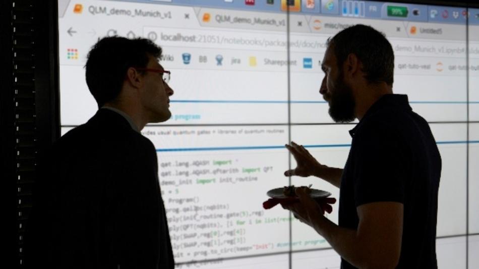 Von der Theorie in die Praxis: IBM und Atos SE demonstrierten interessierten Teilnehmern wie Quan-tum Machine Learning funktioniert.