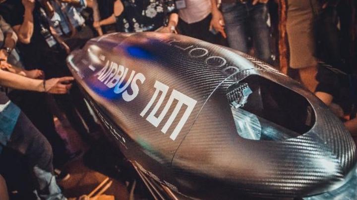 Der Pod der TU München bei der Hyperloop Pod Competition 2018