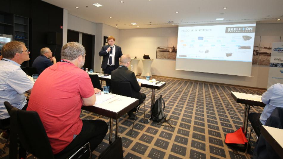 Taavi Madiberk, Mitgründer und CEO von Skeleton Technologies, sprach in seiner Keynote über die Einsatzmöglichkeiten Graphen-basierter Ultrakondensatoren, die in der Nähe von Dresden gefertigt werden