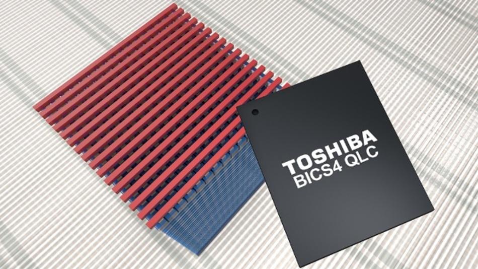 Bis zu 2,66 TByte in einem Gehäuse: die neue Flash-Gereration BiCS4 von Toshiba.