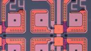 Winzig kleine Poren wurden mit Molekülen gefüllt sowie von unten über eine Platin- und von oben über eine Gold-Nanopartikel-Elektrode kontaktiert.