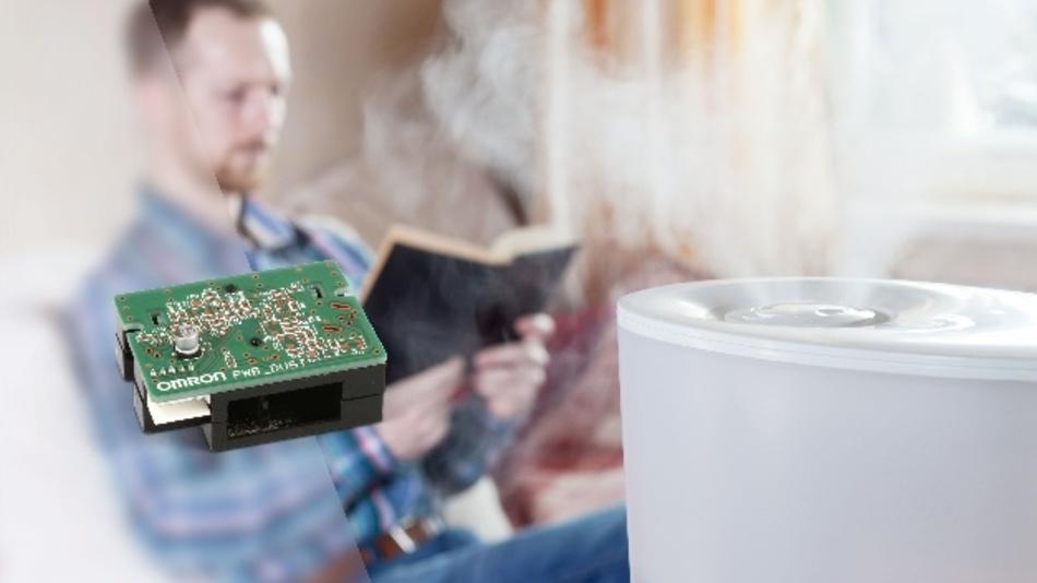 Omrons Luftqualitätssensormodul BW5-LD erfasst Partikel bis zu einer Größe von 0,5 µm, also fünfmal kleiner als in der PM2,5-Norm für Feinstaub in der Atmosphäre gefordert.