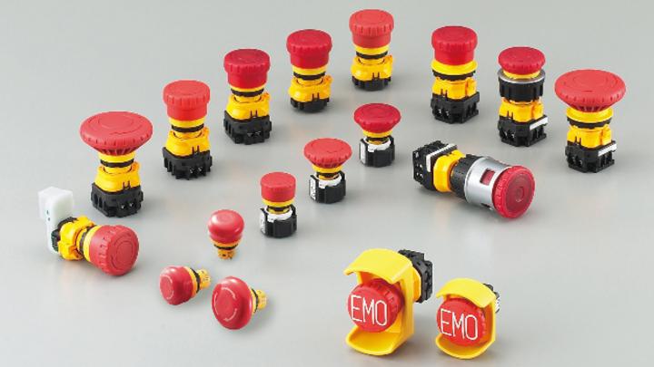 Das Produktportfolio von Apem umfasst eine breite Palette von Not-Aus-Schaltern für viele Anwendungsbereiche.