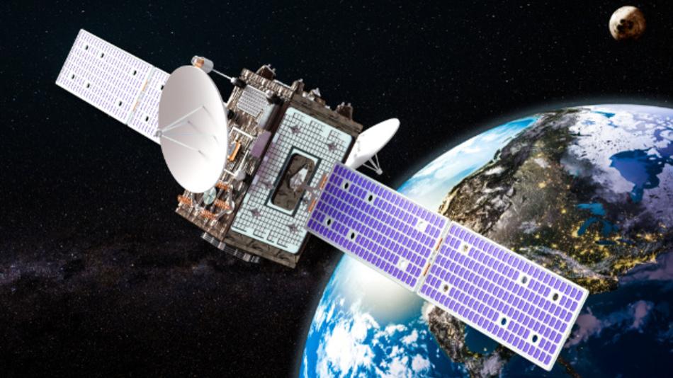 In einer Höhe von 22.922 km kreisen die Satelliten um die Erde.