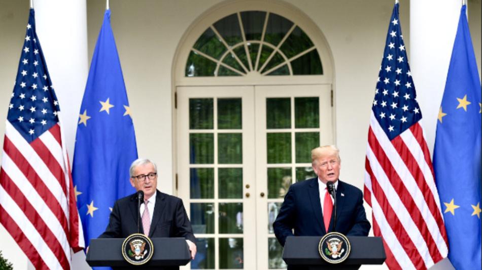 EU-Kommisionspräsident Jean-Claude Juncker bei US-Präsident Donald Trump: »Ich bin mit der Absicht nach Washington gereist, einen Deal zu bekommen, und ich habe einen bekommen.«