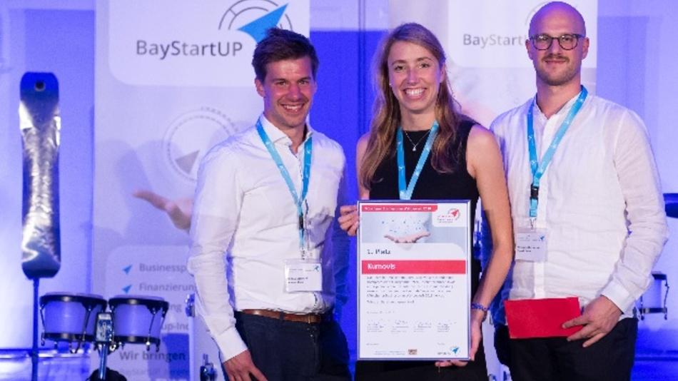 Das Münchener Hightech-Startup Kumovis gewinnt das Finale im Münchener Businessplan Wettbewerb 2018 von BayStartUP. Das Team entwickelt 3D-Drucker, die speziell auf medizintechnische Anforderungen zugeschnitten sind.