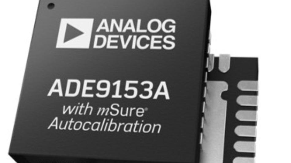 Der ADE9153A von ADI benötigt keine externe Spannungs- und Stromquellen in Referenzqualität
