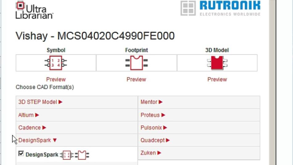 Rutronik24 mit neuem Feature: CAD-Darstellung von Bauelementen