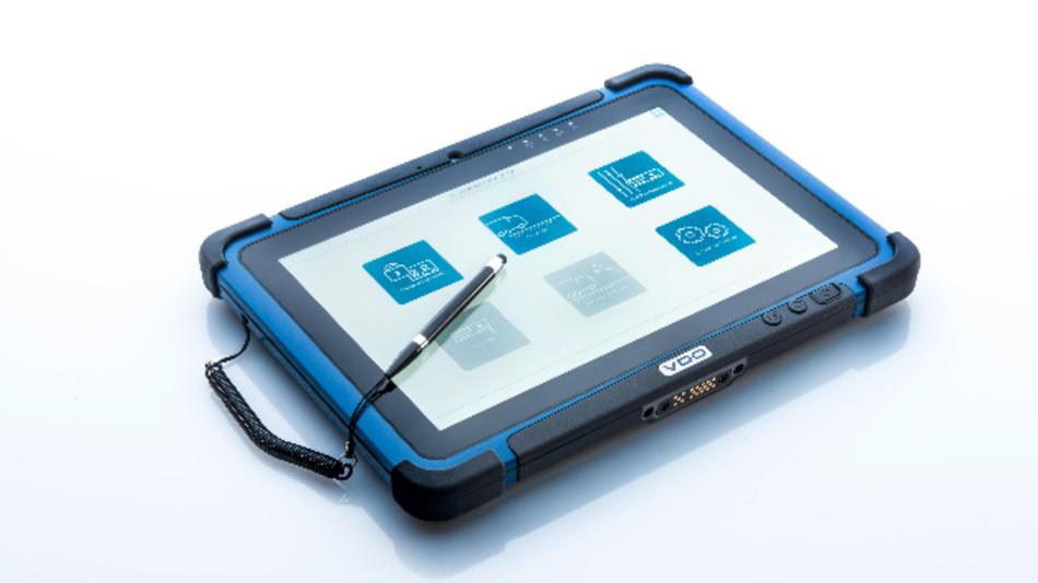 VDO Workshop Tablet kann als Basis für die Inspektion des digitalen Tachographen dienen.