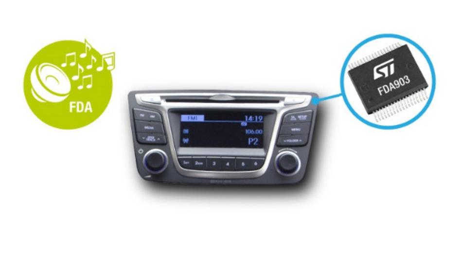 Der Audioverstärker FDA903D kann in unterschiedlichen Anwendungen eingesetzt werden: Telematik- und eCall-Systeme sowie AVAS-Applikationen (Acoustic Vehicle Alerting System) für Hybrid- und Elektrofahrzeuge und Infotainmentsysteme.