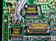 Schaltungsausschnitt für relevante Komponenten, um einen Touch-Sensor zu betreiben