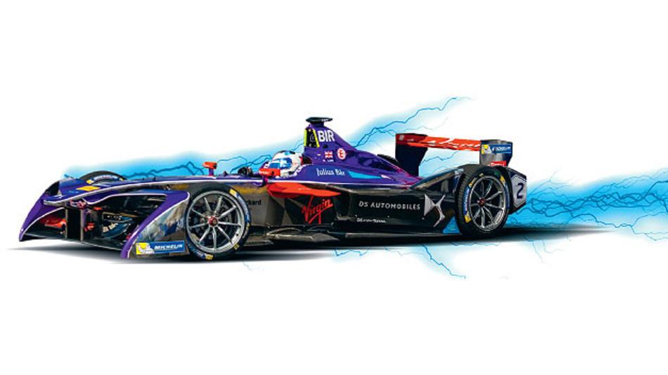 Shunt-basierte Messsysteme in den Formel-E-Autos zeichnet extreme Präzision und Isolatinosfestigkeit aus.
