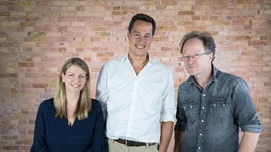 Ada-Health-Gründerteam (v.l.n.r.): Dr. Claire Novol, Daniel Nathrath und Dr. Martin Hirsch.