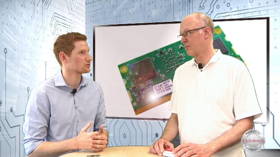 Farnell-Experte Daniel Kilian im Gespräch mit dem stellvertretenden Elektronik-Chefredakteur Joachim Kroll.