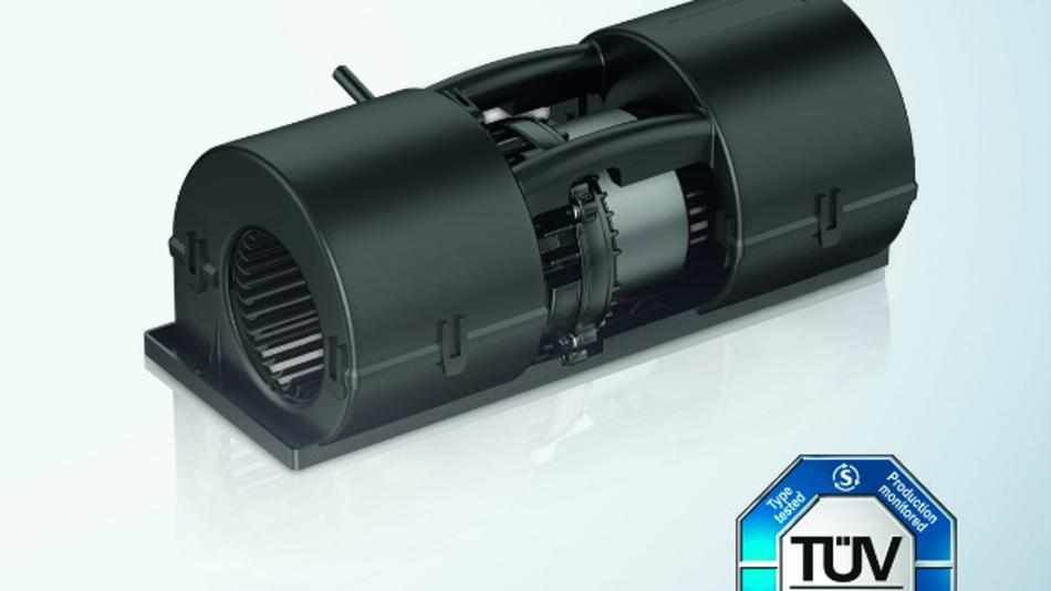 Das kompakte, doppelflutige Radialgebläse für Verdichter- und Umrichterkühlungen in Bahnanwendungen ist nun auch für 110 V DC erhältlich.