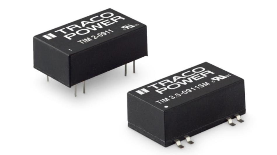 Beide Wandler-Serien bieten eine verstärkte Isolierung bis 5.000 V AC (RMS).