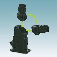 Hohe Flexibilität: Der Bajonett-Verschluss am Steckverbinder ermöglicht eine frei wählbare Kabelabgangsrichtung.