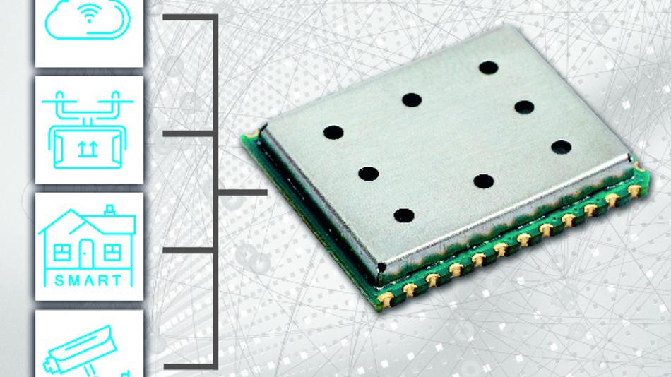 Das LoRa-Funkmodul iM282A von IMST ermöglicht höhere Reichweiten im 2,4-GHz-ISM-Band.