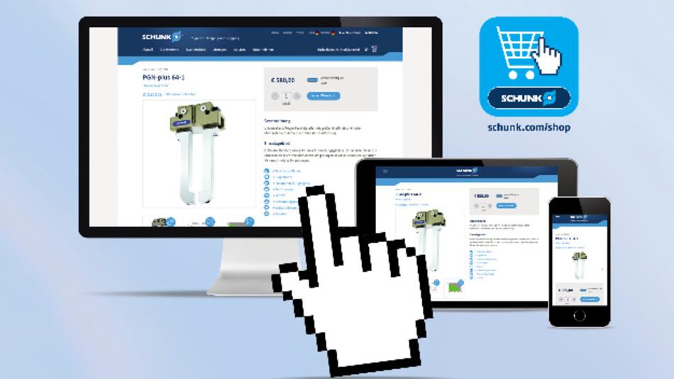 Mit 11.000 Standardkomponenten ist der Schunk-Shop laut dem Unternehmen die weltweit umfangreichste Online-Plattform für den Kauf von Greif- und Spanntechnik.