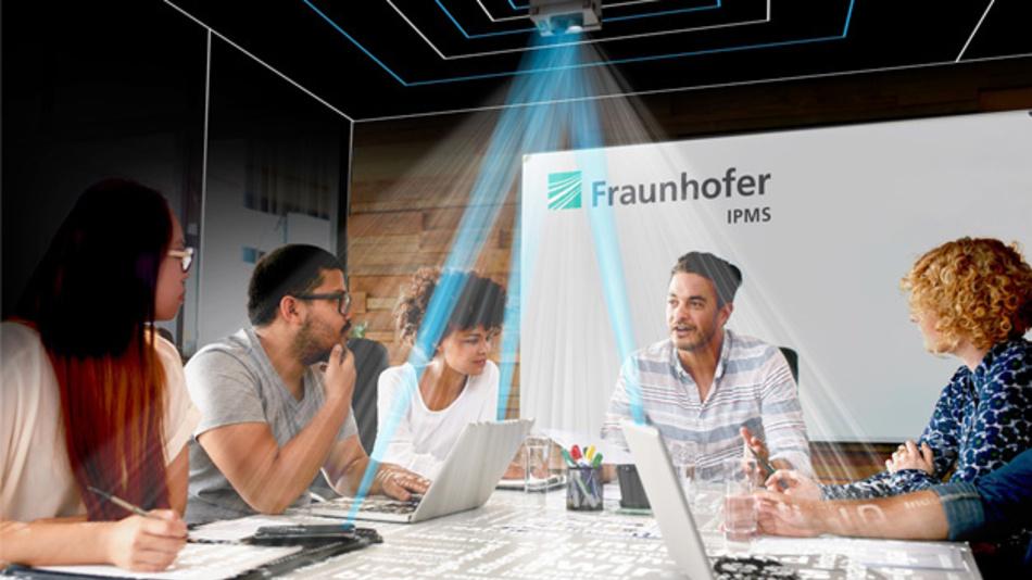Li-Fi kann auch für die Punkt-zu-Mehrpunkt-Kommunikation eingesetzt werden.
