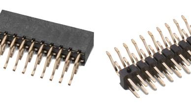 Zweireiheige Stift- und Buchsenleisten in 90-Grad-SMT-Ausführung im 2,0-mm-Raster von Würth Elektronik eiSos.
