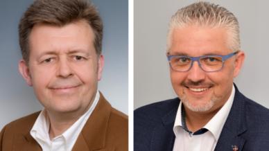 Die beiden neuen Gebietsbetreuer Otto Loncar (li.) und Thomas Ackermann (re.) ergänzen das Vertriebsteam von Schnabl Stecktechnik.