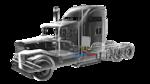 Die Kabinenklimatisierung mit Adsorptionsklimaanlage ist leise und spart Kraftstoff.