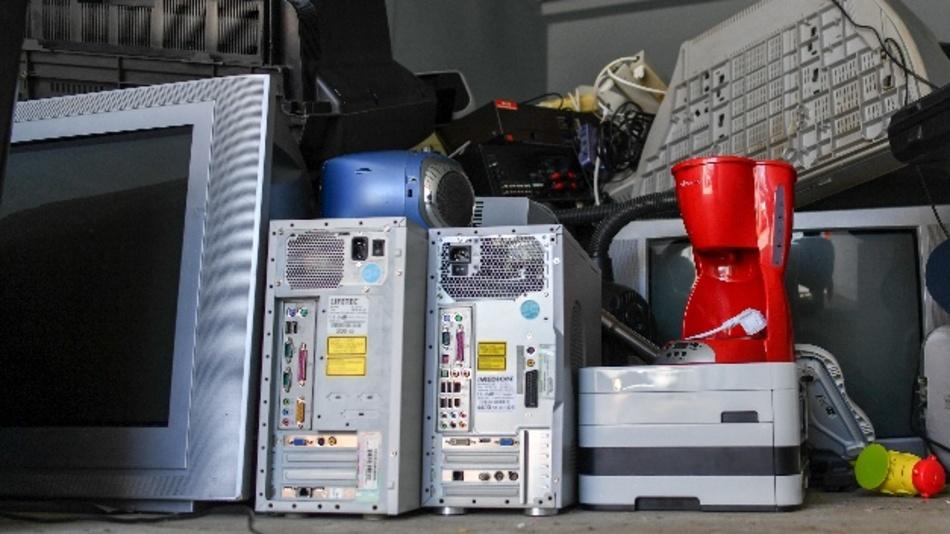 Elektroschrott im Recyclinghof