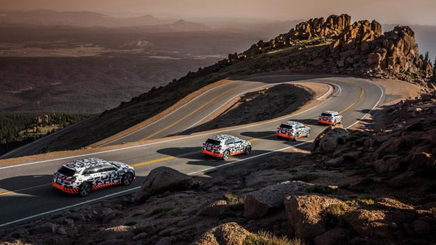 Der Audi e-tron-Prototyp im Rekuperationstest am Pikes Peak