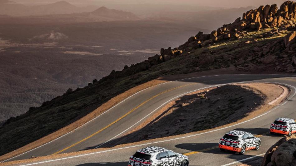 Der Audi e-tron-Prototyp im Rekuperationstest am Pikes Peak