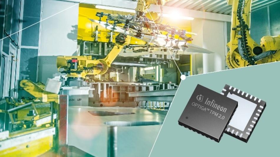 Der TPM-2.0-Chip Optiga sichert Elektronik in Industrie-Anlagen und anderen Anwendungen gegen Cyberangriffe.