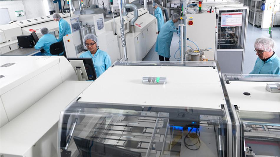 Blick in die Brennstoffzellen-Produktion