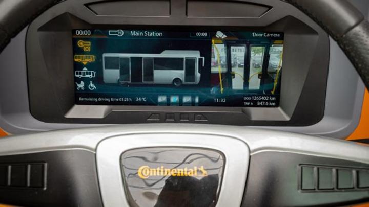 Das voll programmierbare 12,3-Zoll TFT-Display MultiViu Professional 12 zeigt verschiedene Kombiinstrumente und Informationen wie Kamerabilder an.
