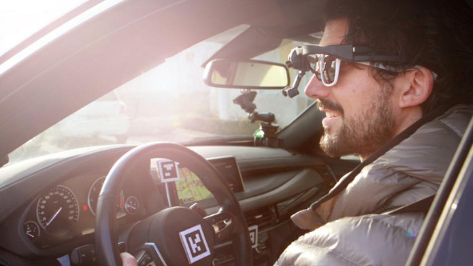 Unterschiedliche Sensoren liefern Informationen zum Verhalten des Fahrers sowie zum Fahrzeug und werden in der SensorFusion-Plattform D-Lab aufgezeichnet und analysiert.