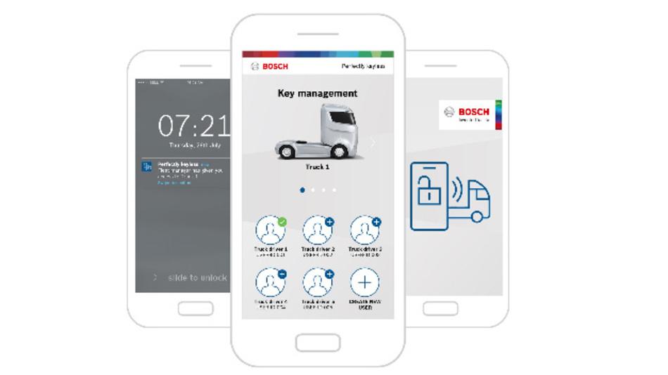 Sicheres Schlüsselmanagement mit der Bosch-App.