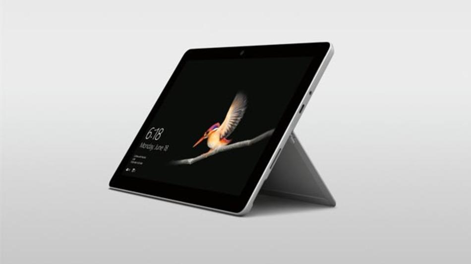 Sieht zunächst aus wie ein übliches Tablet: das Surface Go