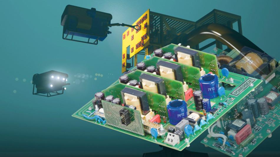 Bild 2. Das Netzteil PRBX VB410-384 für den Einsatz in der Tiefsee verfügt über voll digitales Power-Management, Überwachungsfunktionen und intelligente Redundanz.
